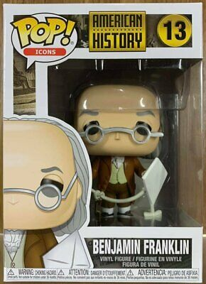 Funko Pop Icon American History # 13 Benjamin Franklin Vinyl Figure in stock