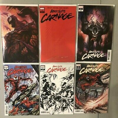 Absolute Carnage #1 Variant Red Virgin Artgerm Lot 6 Copies Marvel Comics Nm