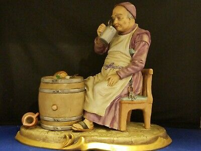 "Sitzendorf Porcelain Figurine Signed M.Siegel 10x5.5x9"" Antique Vintage German"