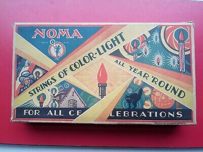 Vtg 1929 Noma Xmas Lights Set◾Art Deco Style◾New In Orig Box◾Working