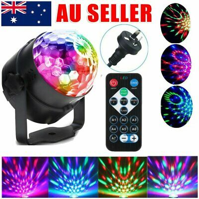 Sound Active RGB LED Laser Light Disco Stage DJ Club Party Crystal Magic Ball