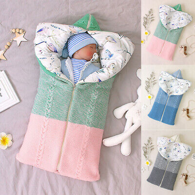 Newborn Infant Baby Boy Girl Swaddle Sleeping Sack Bag Wrap Stroller Bed Blanket