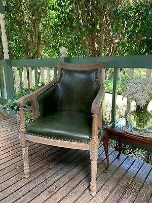 Leather Accent High-Back Chair