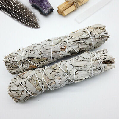 "7"" California White Sage Smudge Stick Wands House Cleansing Negativity Removal"