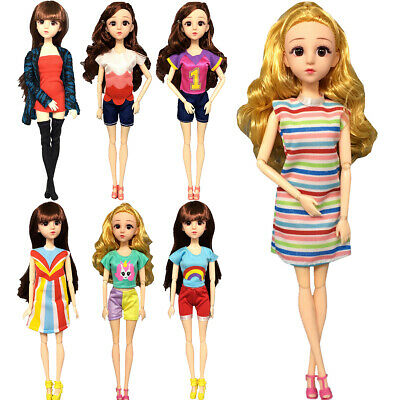 7Pcs Fashion Handmade Clothes Outfit Party Gown For Barbie Dolls Kid Toy Gift UK