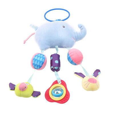 Cartoon Elephant Shape Rattles Mobile Plush Infant Bed Stroller Hanging Toys one