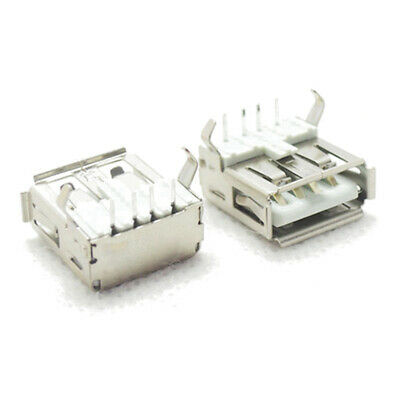 10X USB Type-A Female PCB Mount Socket Plug Connector 4 Angle SALE Right Pi N2K5