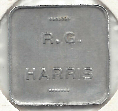 R. G. Harris 1 Pint Milk Square Alum Token