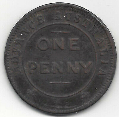 Advance Australia New South Wales ND 1D Small Letters Australasian Trade Token