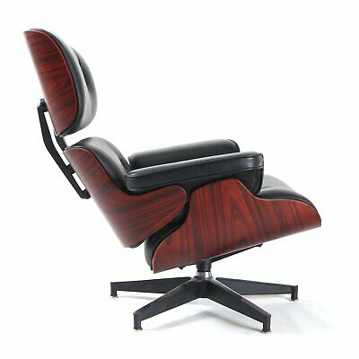Mid century For Eames Lounge Chair Ottoman Genuine Top Grain Italian Leather