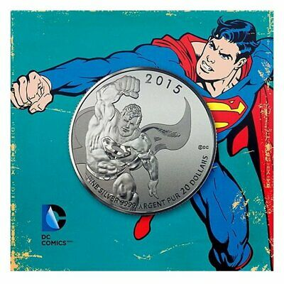 2015 DC Comics Originals - Superman 1/4oz .9999 Silver Coin $20 - RCM