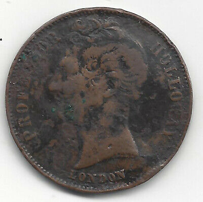 1858 Prof Holloway Pills & Ointments  ½D J Moore Incuse Australasian Trade Token