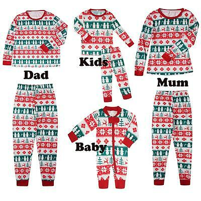 Womens Nightwear Ladies Family Baby Matching Kids Christmas Xmas Pyjamas Set