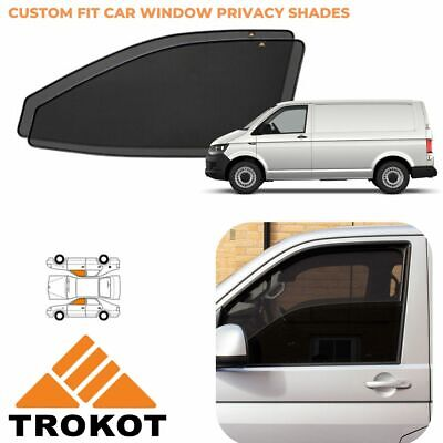 VW Transporter T4 tailor made PRIVACY SHADES front side windows magnetic screens