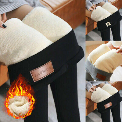Ladies Thermal Leggings Thick Winter Fleece Lined Warm High Waist Cashmere Pants