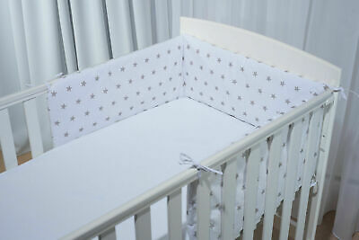 Protector Crib Bumper Pads Baby Bed Cot Safety Cotton Blend Set Rail