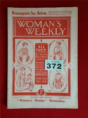 Very Rare Woman's Weekly - September 12th 1912 - Very Good Condition.