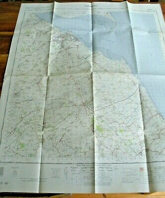 GRIMSBY Ordnance Survey Map Sheet 105 One Inch to One Mile 1962