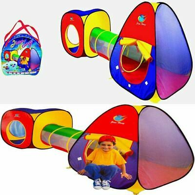 Kid's Children's Baby Pop Up Tent 3 Piece Set Play House & Tunnel Ball Pit Gift