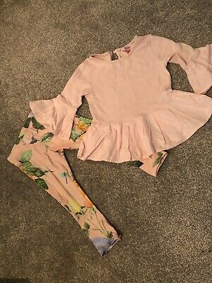 Ted Baker Girl's Long Sleeved Top & Leggings Outfit/Set - Age 2-3 Years