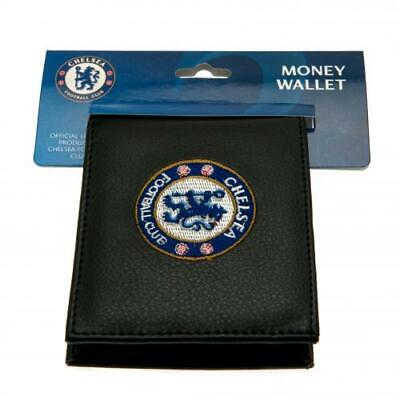 Chelsea  F.C. Embroidered Black PU Wallet - Official CFC Club Merchandise