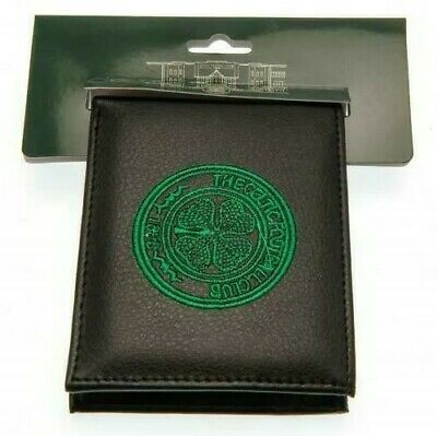 Celtic F.C.  Embroidered Black PU Wallet - Official CFC Club Merchandise