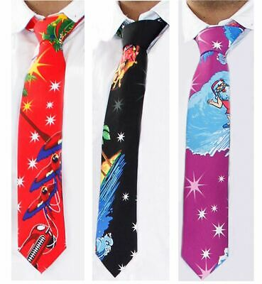 Mens Christmas Ties Fancy Dress Office Party Secret Fun Novelty Neck Xmas Gifts