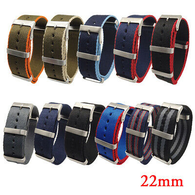 Nylon Watch Band Strap Replacement Wrist Band Sport Pin Buckle 20/22mm