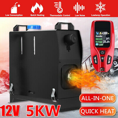 Hcalory 5KW 12V All in One Diesel Air Heater Remote Monitor For Truck Bus RV