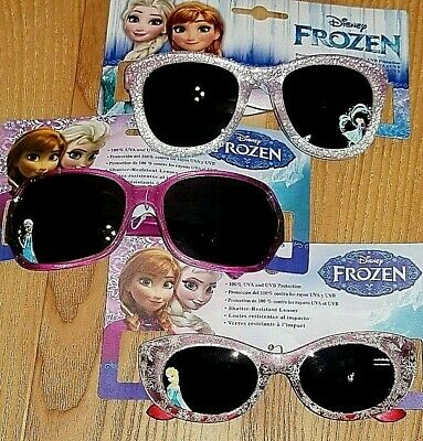 Girls Lot of 3 Disney Frozen Sunglasses Polycarbonate Shatter Resistant - Pink