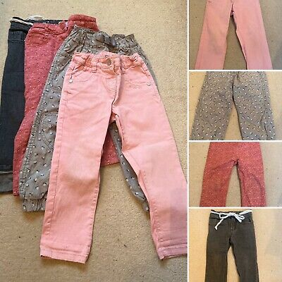 4x Girls Age 2-3 Trousers And Jeans Including Next, H&M