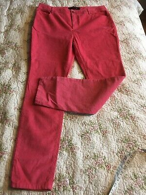 BODEN Pink Cord Trousers Size 16