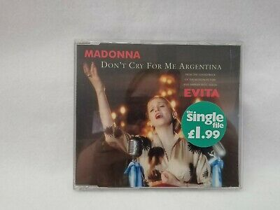 Madonna Don't Cry For Me Agentina CD SIngle