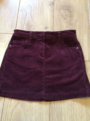 Next Girls Skirt Age 9 Years Very Fine Cord Lovely Deep Red/Wine Colour