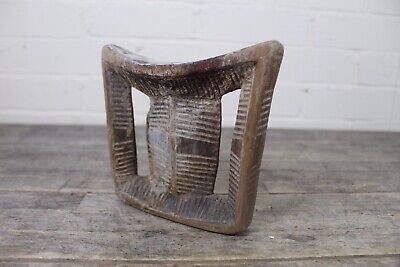 Antique 19th Century African Tribal Hand Carved Wooden Head Rest.