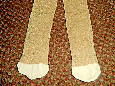 new Girls TU glittery gold party Tights 5-6 YEARS - BNWOT