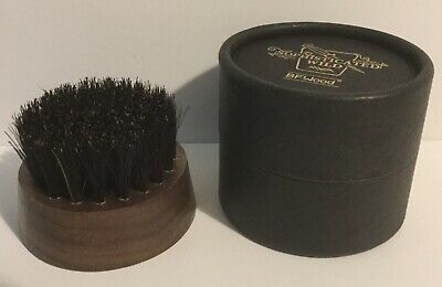 BFWood Beard Brush Boar Bristles Round Shape - Black Walnut