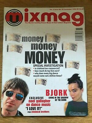 Mixmag Magazine November '96 Bjork / Noel Gallagher / Chemical Brothers