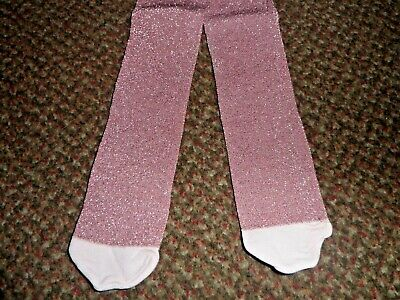 new Girls TU Pink glittery party Tights 3-4 YEARS - BNWOT