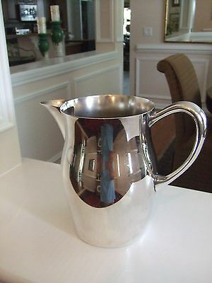 """Silver Plated Pitcher 7"""" Tall Great for Displaying Fresh Flowers"""