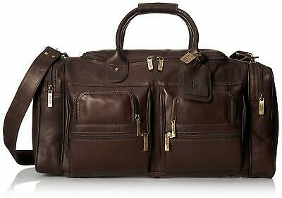 NEW Vaquetta Columbian Leather CLAIRE CHASE EXECUTIVE DUFFEL Cafe Brown Reg $659