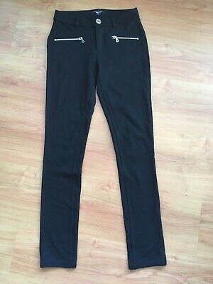 Girls New Look Black Trousers 12-13 Years Xmas
