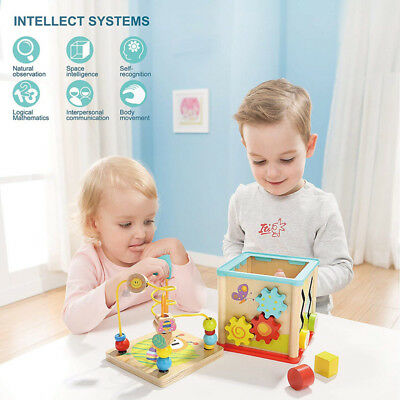 Wooden Abacus Clock Skillful Manufacture Superior Color Brilliancy Bead Baby Toy