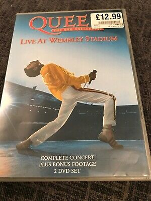 Brian May Signed Queen DVD Collection: Live At Wembley  2003, 2-Disc Set, Box