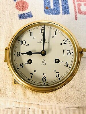 Schatz Royal mariner Ships Clock 8 Days Strong Working Clock.