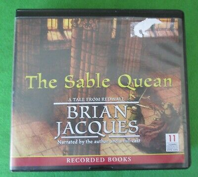 The Sable Quean By Brian Jacques - Audio Book 11 Cds - A Tale From Redwall -2010