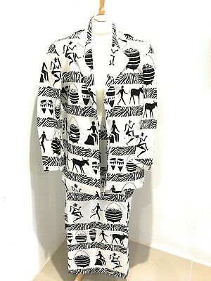 Ladies African Ethnic Print Outfit - Handmade Blazer & Skirt - Size Large - New