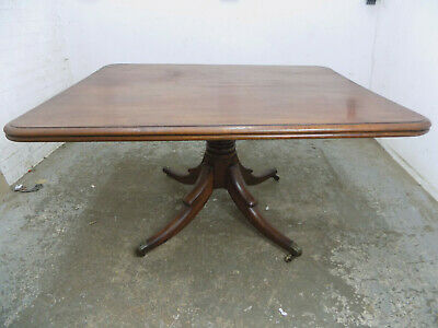 antique,victorian,mahogany,rectangle,tilt top,dining table,pedestal base,table