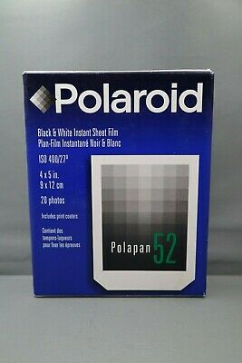 Polaroid Polapan 52 Black & White Film Exp 06/01 20 Photos Brand New Sealed