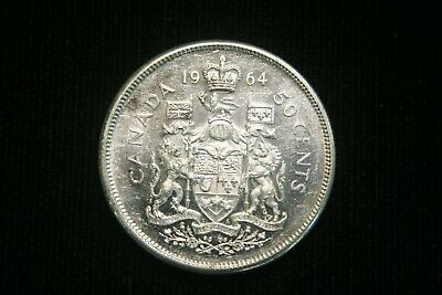1964 Canada 80% Silver 50 Cents Fifty Cents Half Dollar